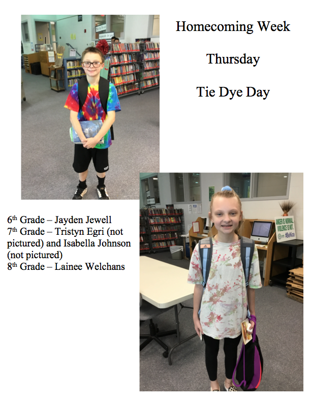 Homecoming Week - Thursday - Tie Dye Day