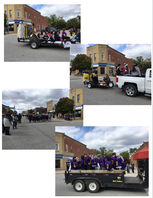 Middle School at the Homecoming Parade