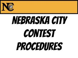 Nebraska City Middle School Contest Procedures