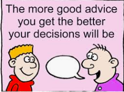 Making Decisions and Accepting Advice