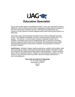 JAG - Educational Specialist needed