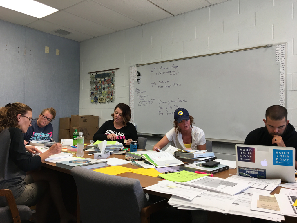 ELA teachers working away.