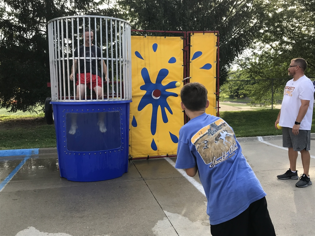 Mr. Davis in the dunk tank.