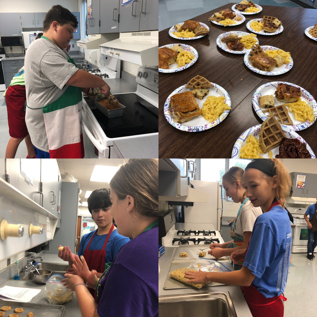 First cooking lab in 8th grade Foods. Lots of family recipes being made today!