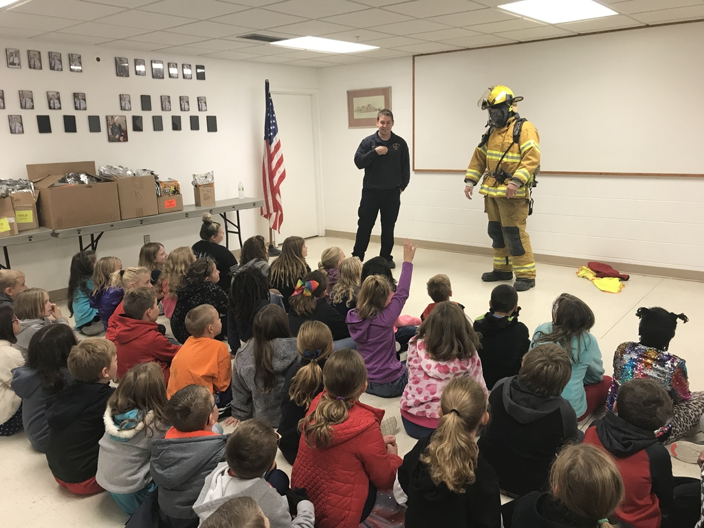Students listening about fire safety