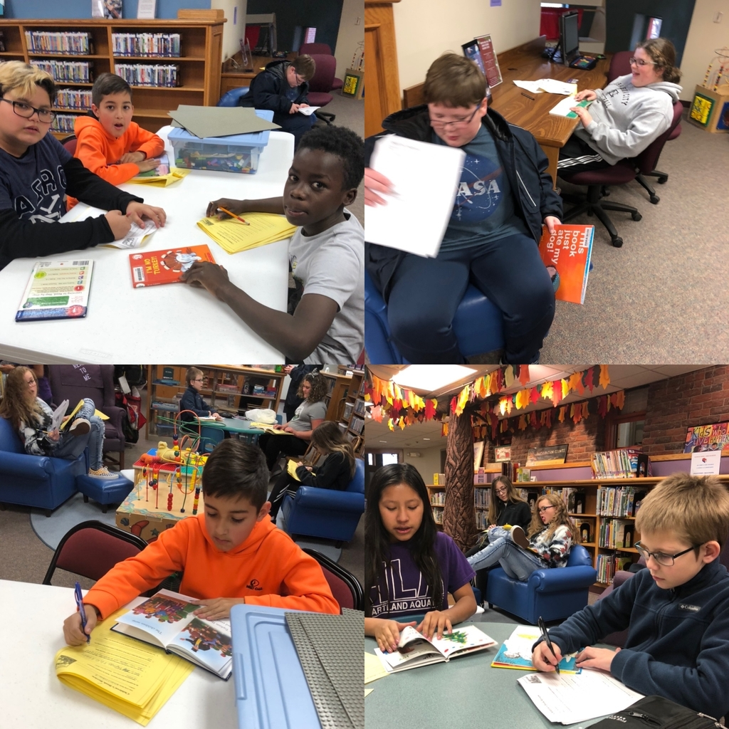 6th grade FCS students finishing up the babysitting unit with children's book reviews at our local library.