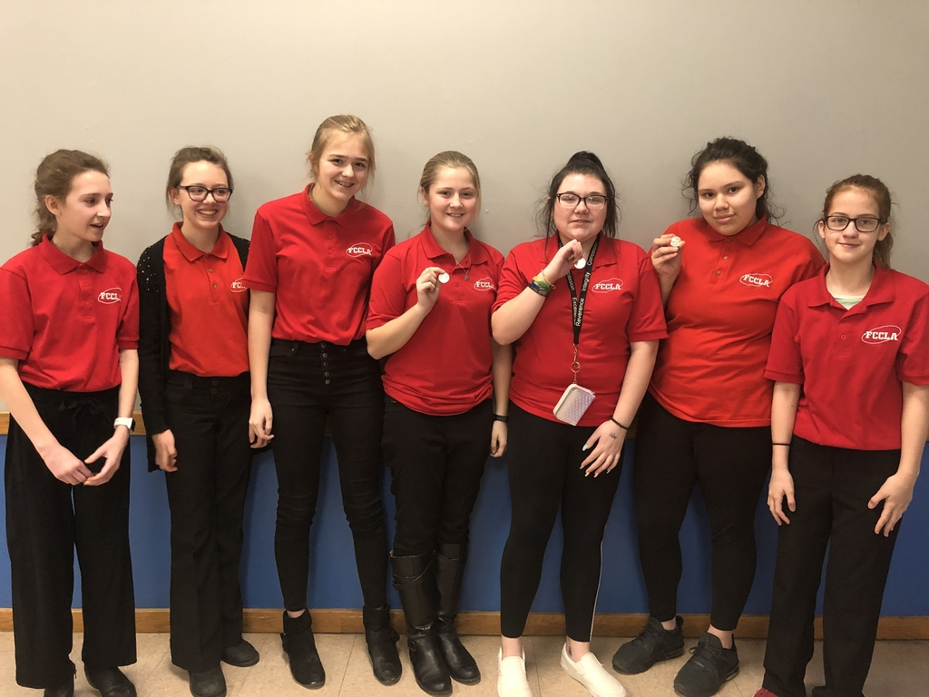 NCMS FCCLA STAR competitors all will be representing us at state!