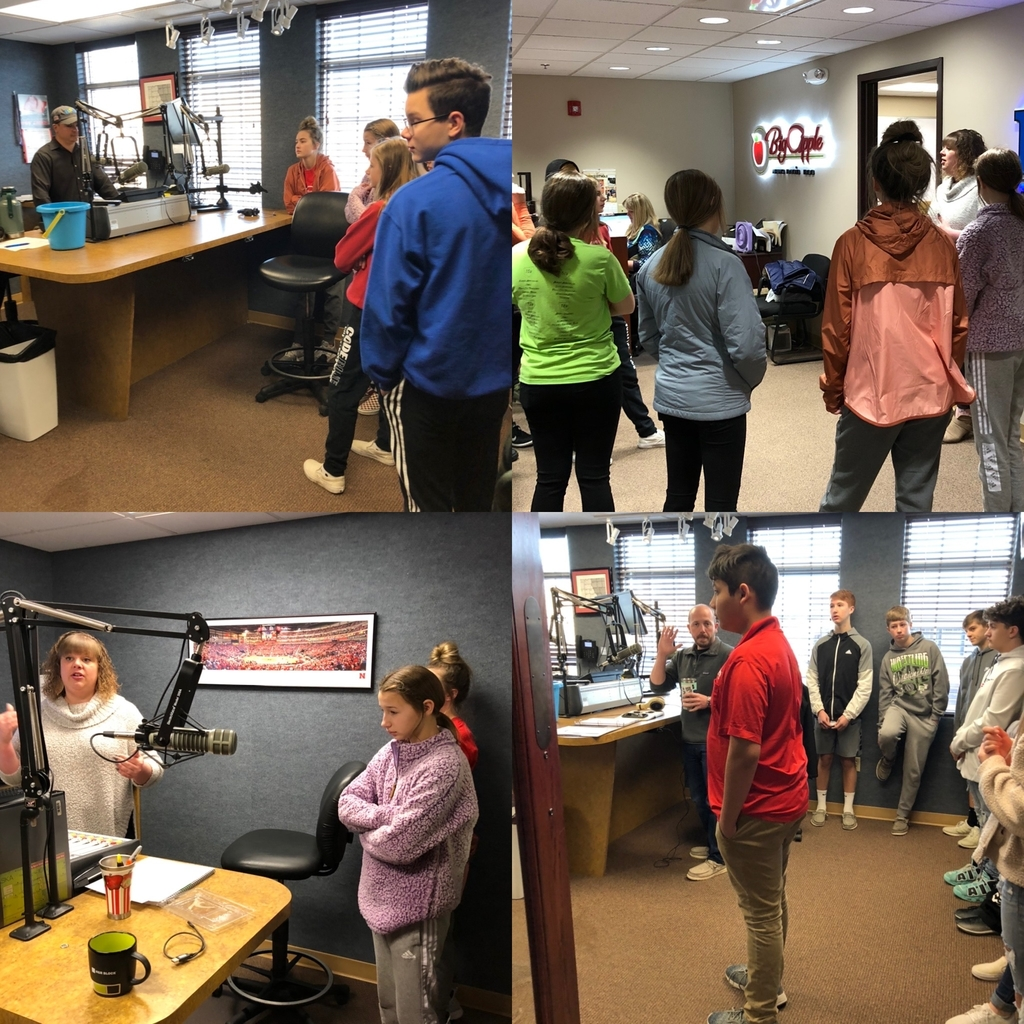 8th grade NCMS Careers class learn about communications and information technology on our B103 tour!
