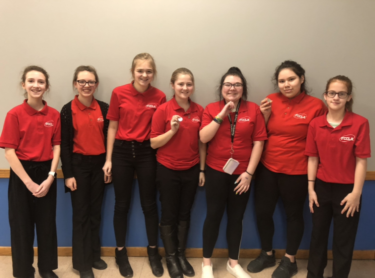 Congrats to this hardworking group of NCMS FCCLA members for qualifying for the Nebraska state conference, the results are in! Lorelei Walters 4th in Career Investigation, Chloee Henner and Yareli Flores-Adame 3rd Chapter Service Project Portfolio, Natalie Nelson, Isabelle Johnson and Elizabeth Poggemeyer 8th in Repurpose and Redesign and Madisen Tietz 2nd(which qualifies her for National FCCLA) in Teach and Train. Congrats ladies, even though we didn't get to be at state this week you did amazing!